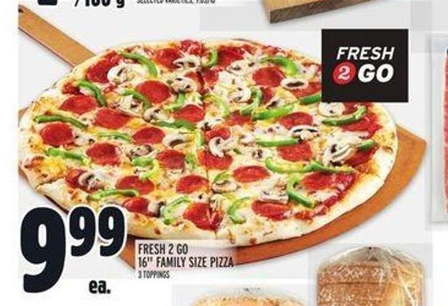 Fresh 2 Go 16in Family Size Pizza