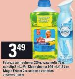 Febreze Air Freshener - 250 G Wax Melts - 77 G Car Clip - 2 Ml - Mr. Clean Cleaner - 946 Ml/1.2 L Or Magic Eraser - 2's