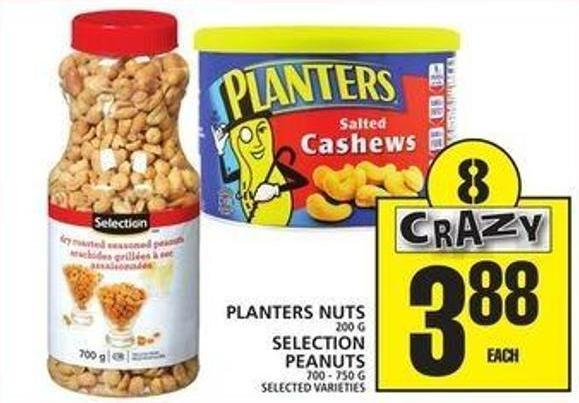 Planters Nuts Or Selection Peanuts