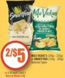 Miss Vickie's (200g - 220g) or Smartfood (154g - 200g)