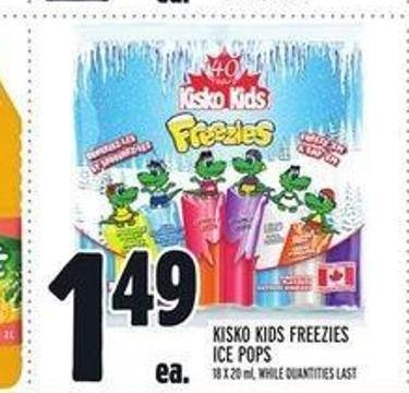 Kisko Kids Freezies Ice Pops