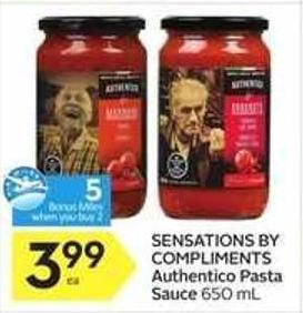 Sensations By Compliments Authentico Pasta Sauce - 5 Air Miles