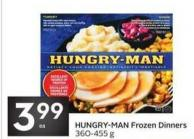 Hungry-man Frozen Dinners 360-455 g