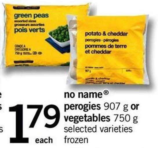 No Name Perogies - 907 G Or Vegetables - 750 G