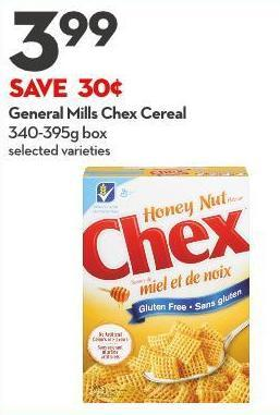 General Mills Chex Cereal 340-395g Box