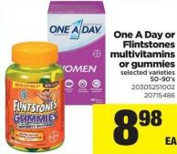 One A Day Or Flintstones Multivitamins Or Gummies - 50-90's