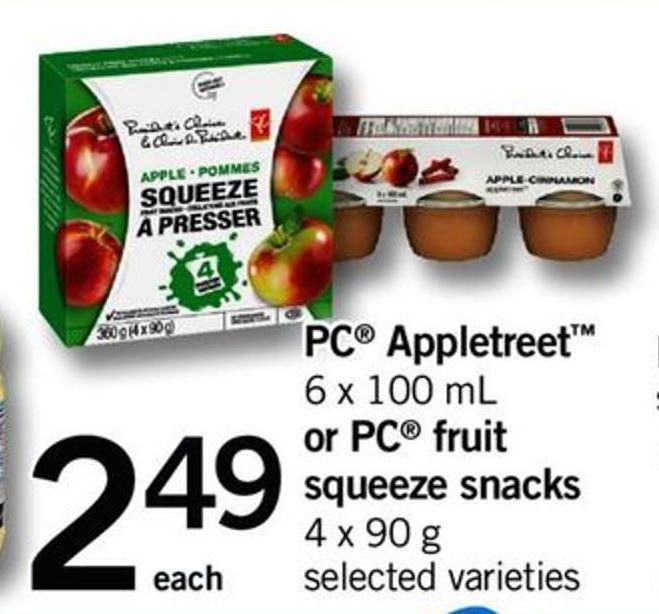 PC Appletreet - 6 X 100 Ml Or PC Fruit Squeeze Snacks - 4 X 90 G