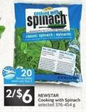 Newstar Cooking With Spinach - 20 Air Miles Bonus Miles