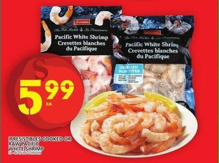 Irresistibles Cooked Or Raw Pacific White Shrimp