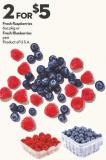 Fresh Raspberries  6oz Pkg or Fresh Blueberries  Pint