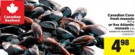 Canadian Cove Fresh Mussels - 907 G Or Live Atlantic Mussels - 2 Lb