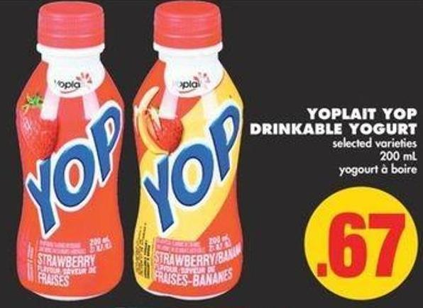 Yoplait Yop Drinkable Yogurt - 200 mL