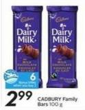 Cadbury Family Bars - 6 Air Miles Bonus Miles