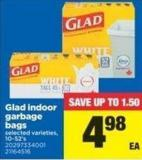 Glad Indoor Garbage Bags - 10-52's