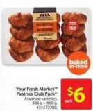 Your Fresh Market Pastries Club Pack