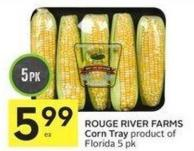Rouge River Farms Corn Tray Product of Florida 5 Pk