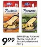 Emmi Sliced Raclette Cheese Product of Switzerland Selected 200 g