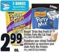 Beggin' Strips Dog Treats Or Friskies Party Mix Cat Food 170 g