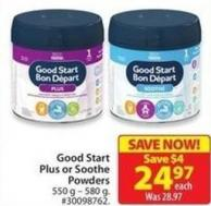 Good Start Plus or Soothe Powders