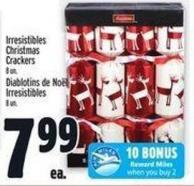 Irresistibles Christmas Crackers 8 Un.
