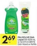 Palmolive Dish Liquid 591-828 mL or Scotch-brite Dish Wand or Refills