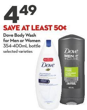 Dove Body Wash For Men or Women 354-400ml Bottle