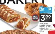 100% Butter Pumpkin Cheese Danish 4 10 Air Milesbonus Miles When You Buy 1