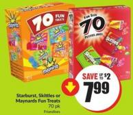Starburst - Skittles or Maynards Fun Treats 70 Pk