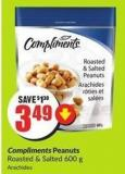 Compliments Peanuts Roasted & Salted 600 g