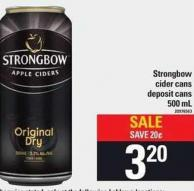Strongbow Cider Cans - 500 mL
