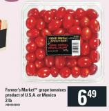 Farmer's Markettm Grape Tomatoes - 2 Lb