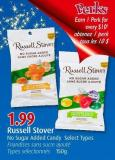 Russell Stover No Sugar Added Candy Select Types