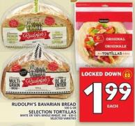 Rudolph's Bavarian Bread Or Selection Tortillas
