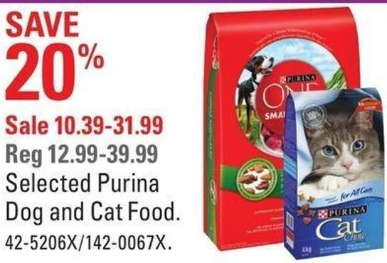 Selected Purina Dog and Cat Food