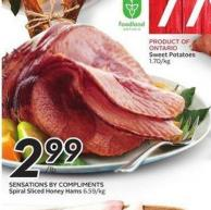Sensations By Compliments Spiral Sliced Honey Hams