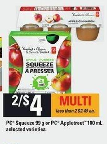 PC Squeeze 99 G Or PC Appletreet 100 Ml
