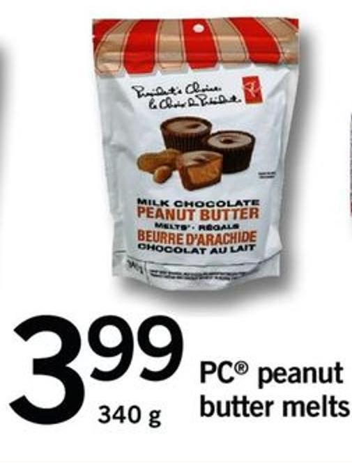 PC Peanut Butter Melts - 340 g