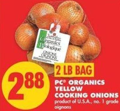 PC Organics Yellow Cooking Onions - 2 Lb Bag