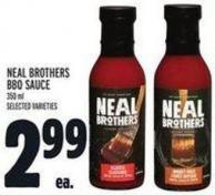 Neal Brothers Bbq Sauce 350 ml