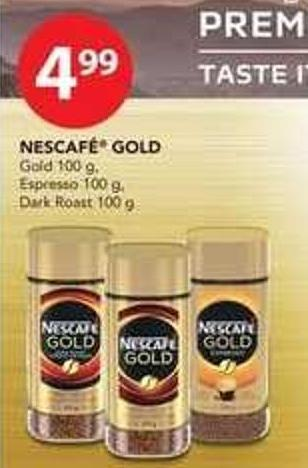 Nescafé Gold Gold - 100 G - Espresso - 100 G Or Dark Roast - 100 G
