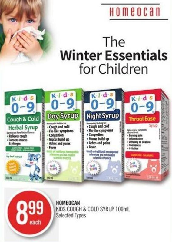Homeocan Kids Cough & Cold Syrup 100ml