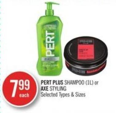 Pert Plus Shampoo (1l) or Axe Styling
