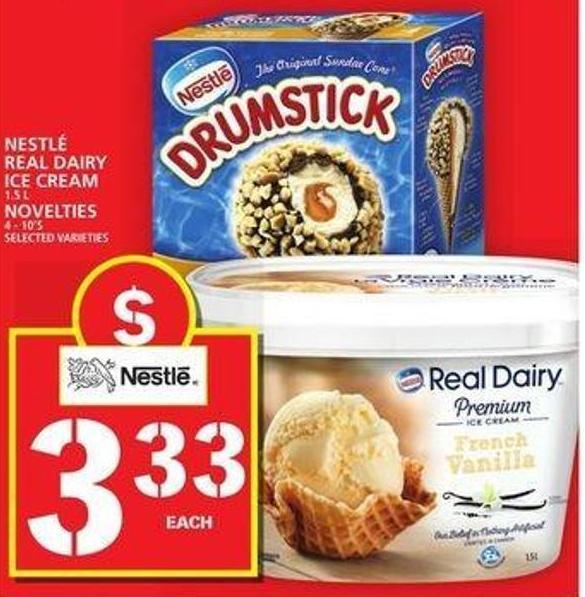 Nestlé Real Dairy Ice Cream Or Novelties