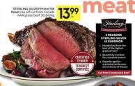 Sterling Silver Prime Rib Roast Cap Off Cut From Canada Aaa Grade Beef 30.84/kg