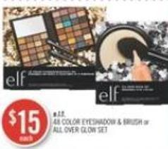 E.l.f. 48 Color Eyeshadow & Brush or All Over Glow Set