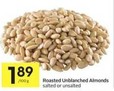 Roasted Unblanched Almonds