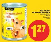 No Name Evaporated Milk  354 g