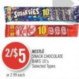 Nestlé Snack Chocolate Bars 10's