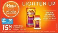 Metamucil Capsules or Powder Selected - 30 Air Miles