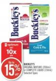 Buckley's Original Mixture (200ml) or Complete Liquid (150ml)